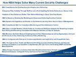 how nba helps solve many current security challenges