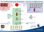 the traditional security framework the core is highly secure
