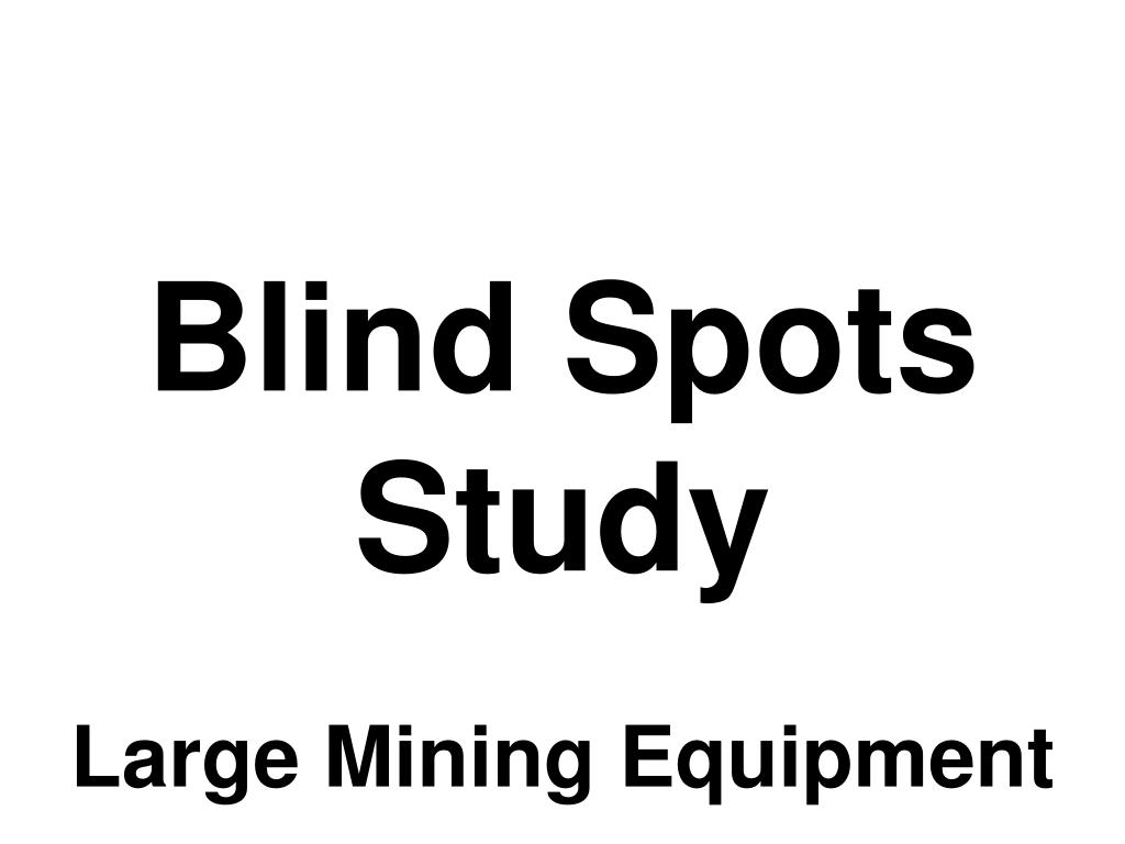 blind spots study