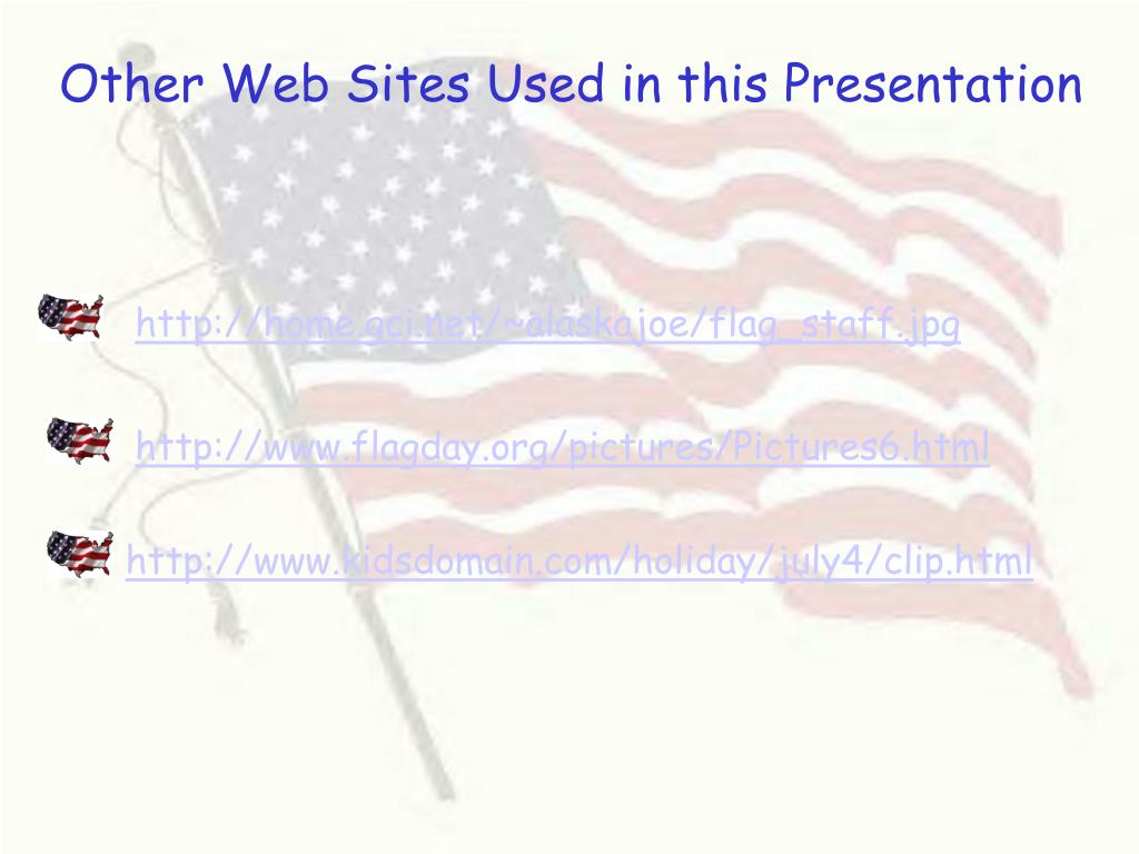 Other Web Sites Used in this Presentation