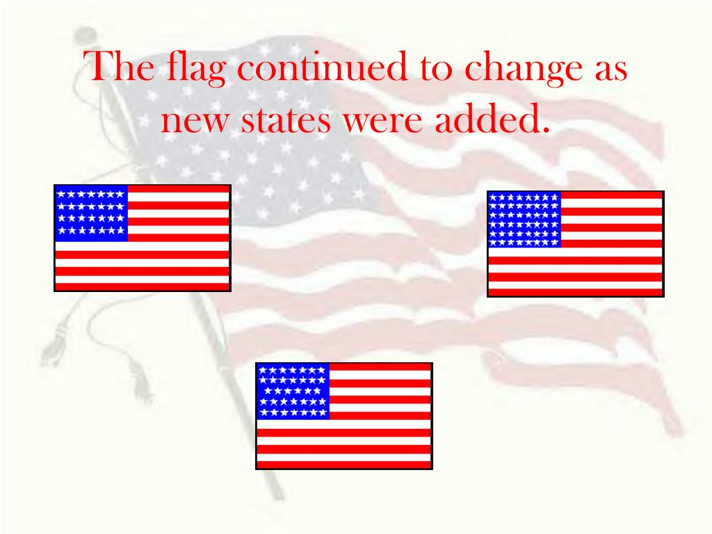 The flag continued to change as new states were added.