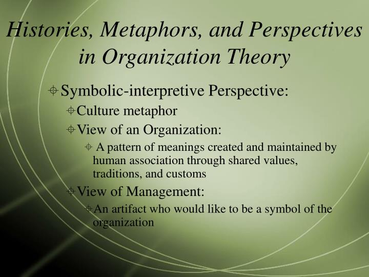 Ppt A Review Of Hatchs Organization Theory Modern Symbolic