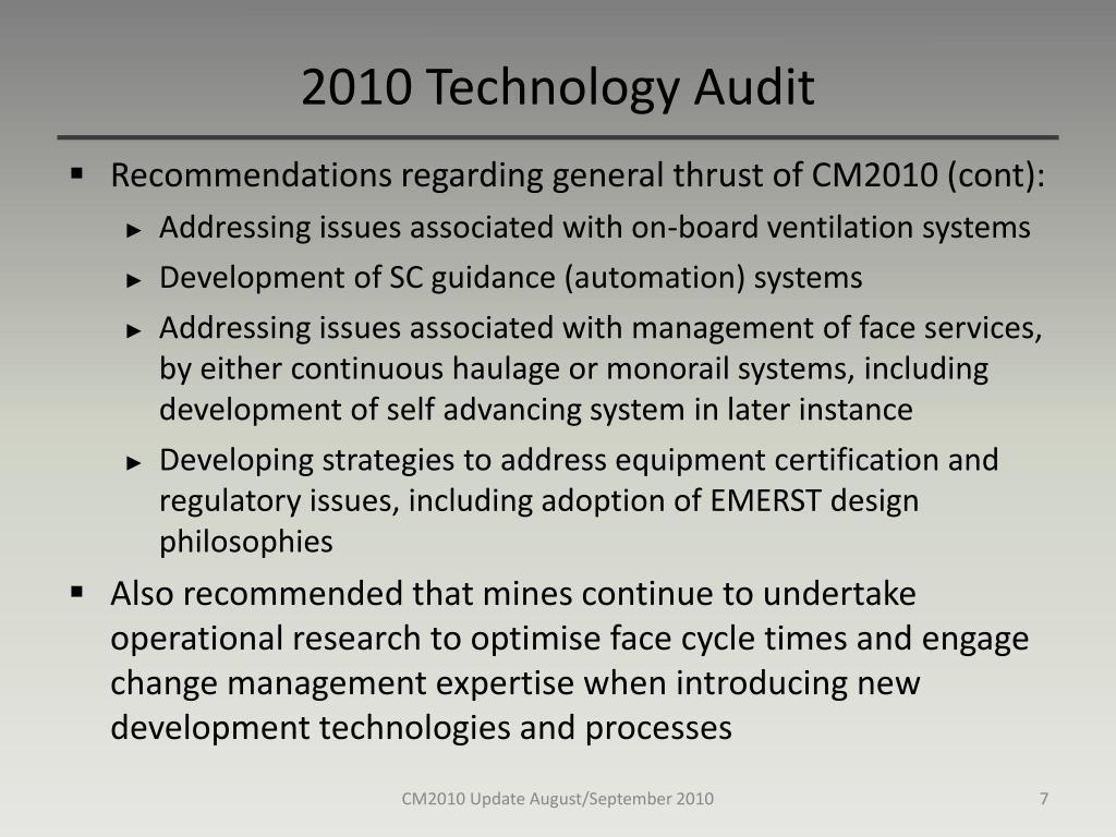 2010 Technology Audit