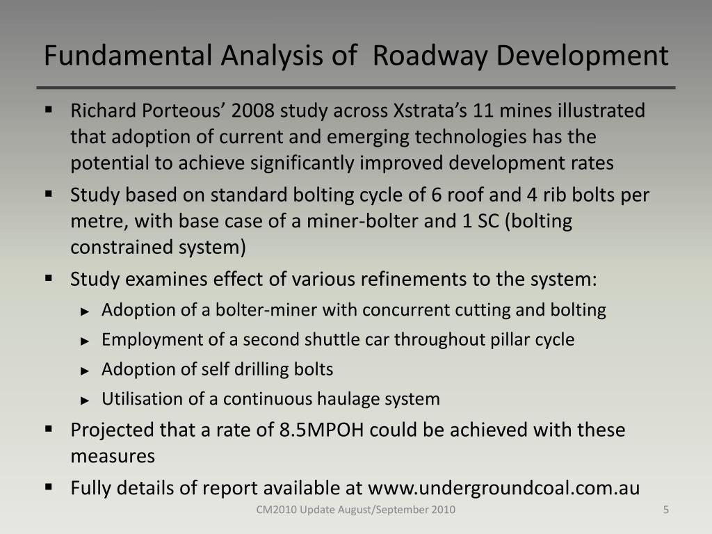 Fundamental Analysis of  Roadway Development