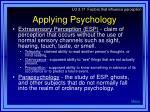 applying psychology