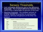 sensory thresholds