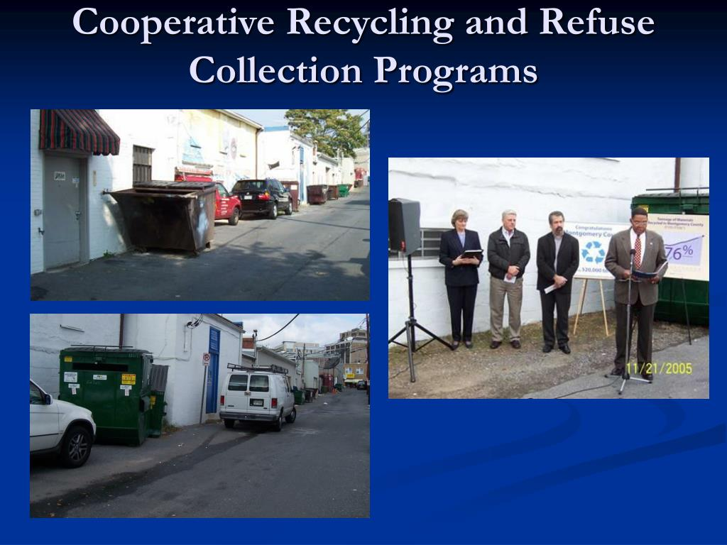 Cooperative Recycling and Refuse Collection Programs