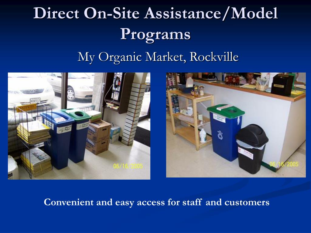 Direct On-Site Assistance/Model Programs