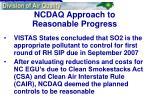ncdaq approach to reasonable progress