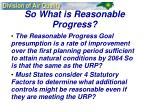 so what is reasonable progress