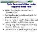 state responsibilities under regional haze rule