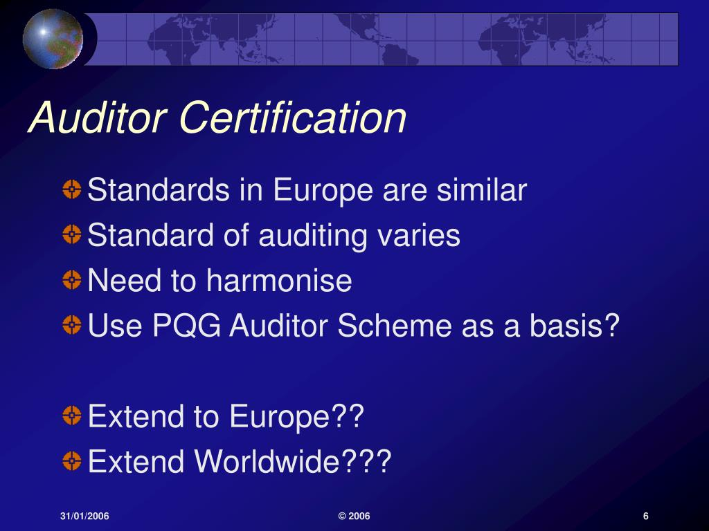 Auditor Certification