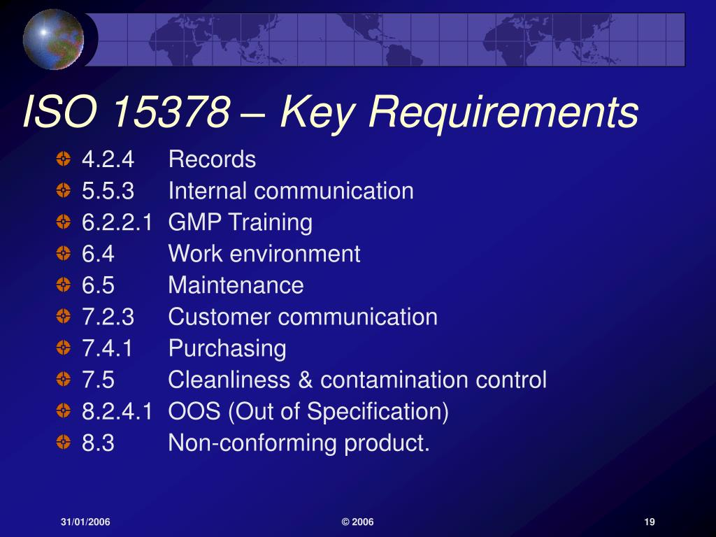 ISO 15378 – Key Requirements