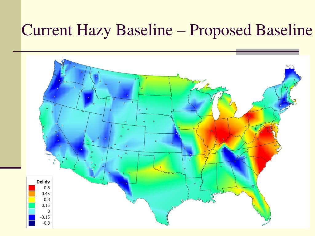 Current Hazy Baseline – Proposed Baseline
