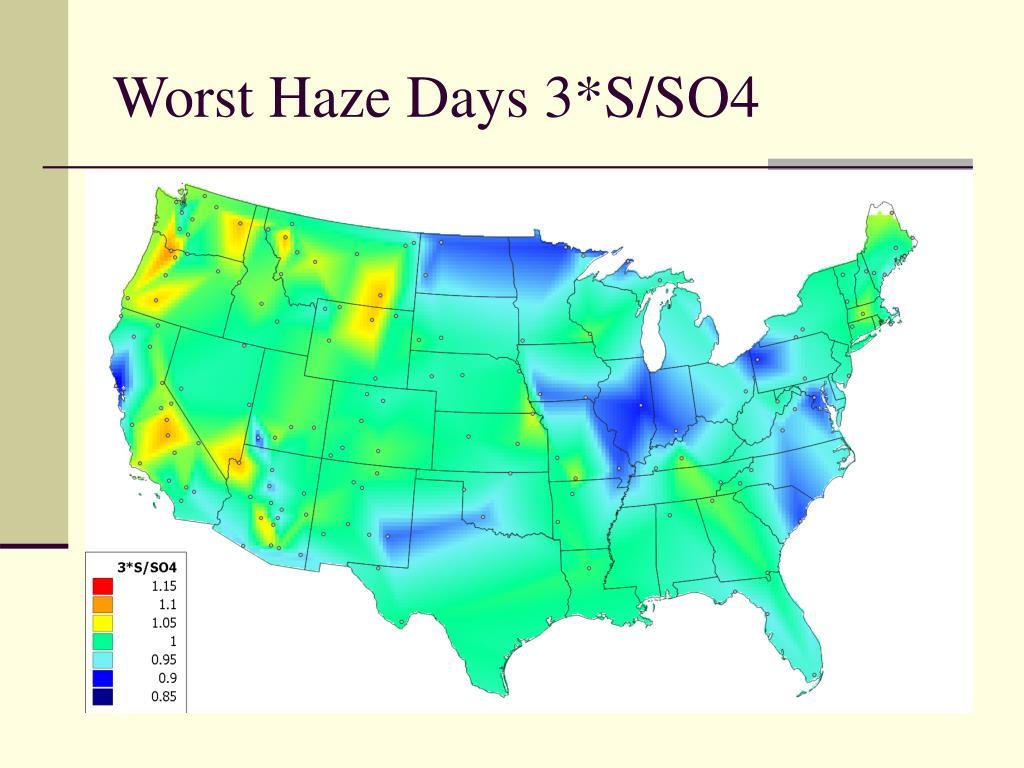 Worst Haze Days 3*S/SO4