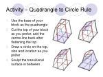 activity quadrangle to circle rule