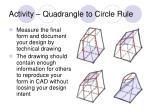 activity quadrangle to circle rule13