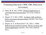 continuing education cbm cbe behavioral assessment