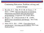 continuing education problem solving and system design