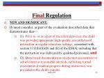 final regulation