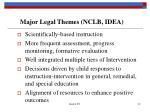 major legal themes nclb idea