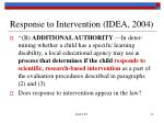 response to intervention idea 2004