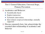 tier i general education universal stage primary prevention