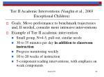 tier ii academic interventions vaughn et al 2003 exceptional children