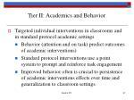 tier ii academics and behavior