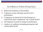 tier ii behavior problem solving criteria