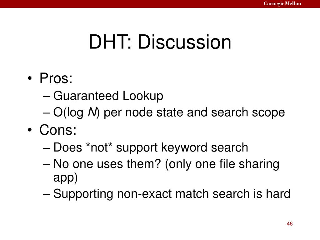 DHT: Discussion