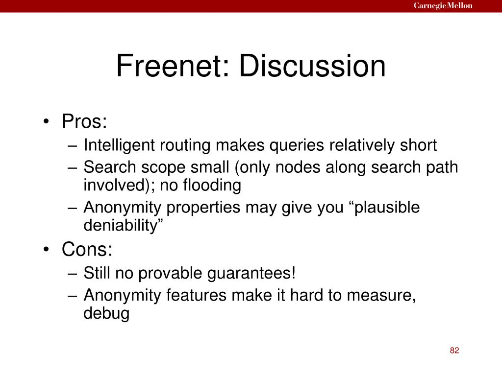 Freenet: Discussion
