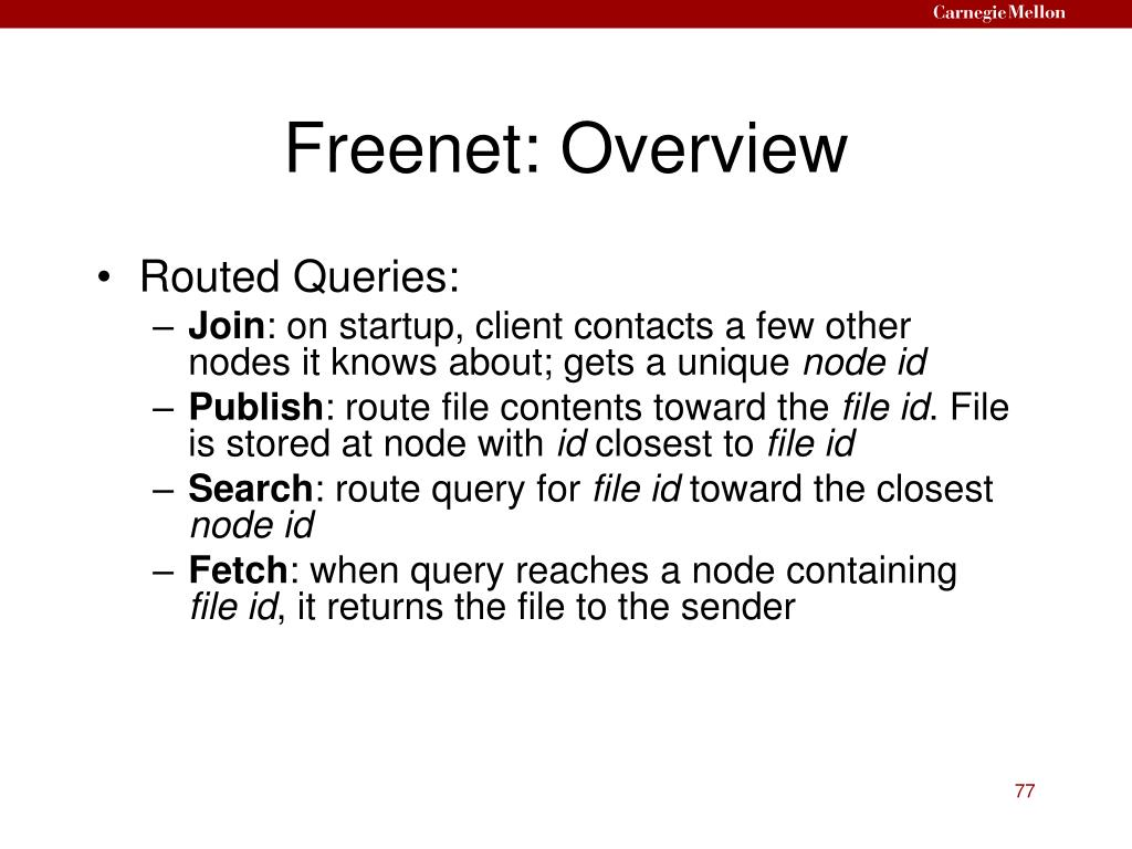 Freenet: Overview