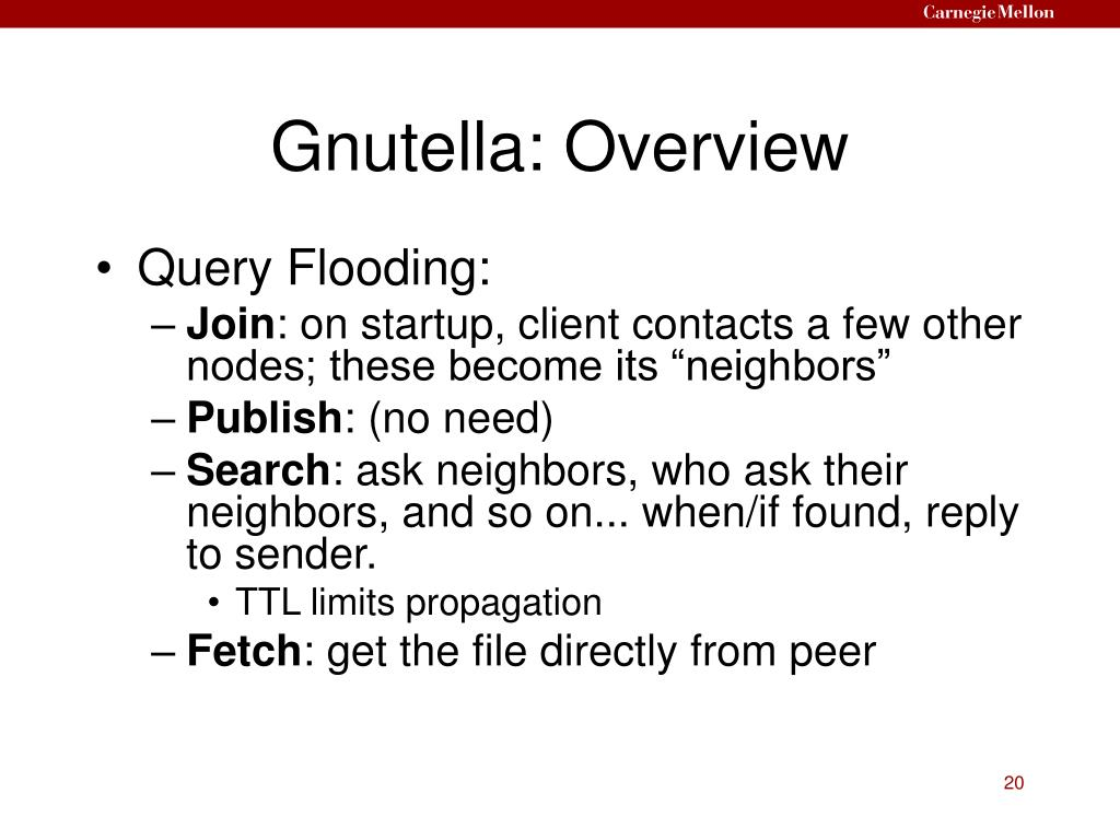 Gnutella: Overview
