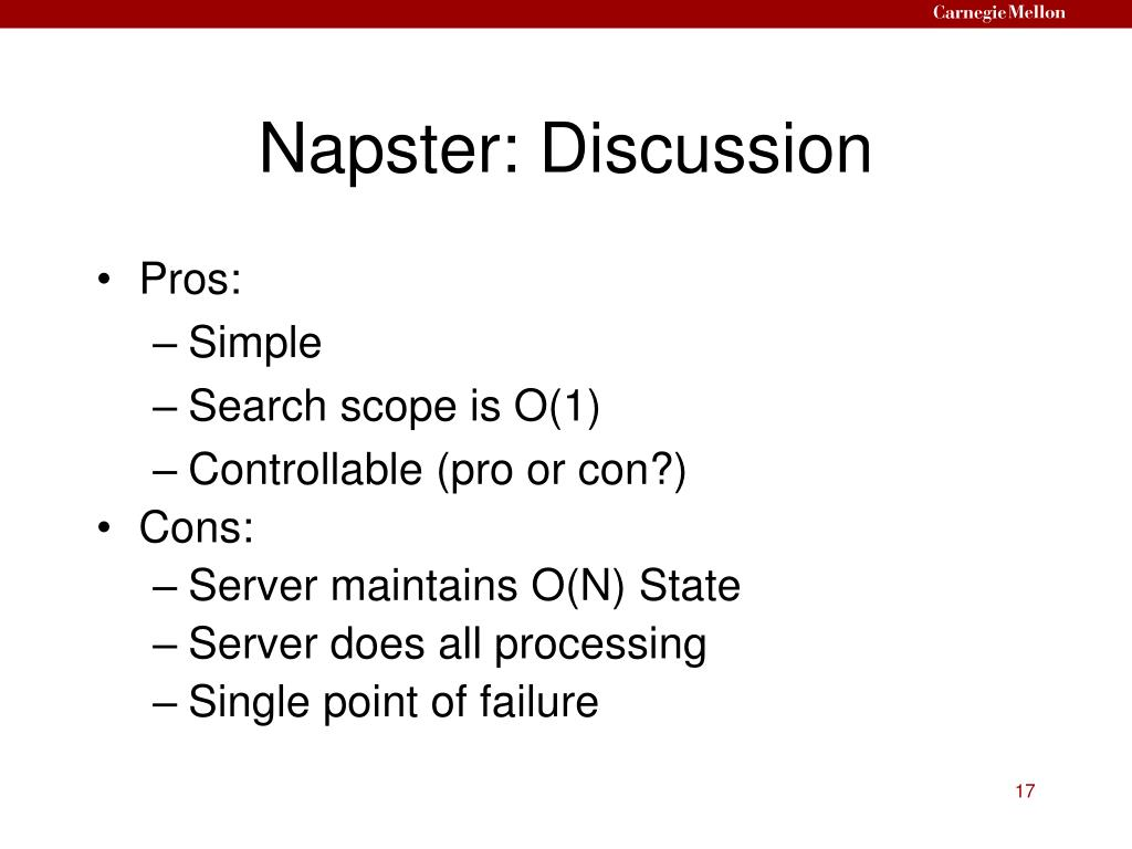 Napster: Discussion