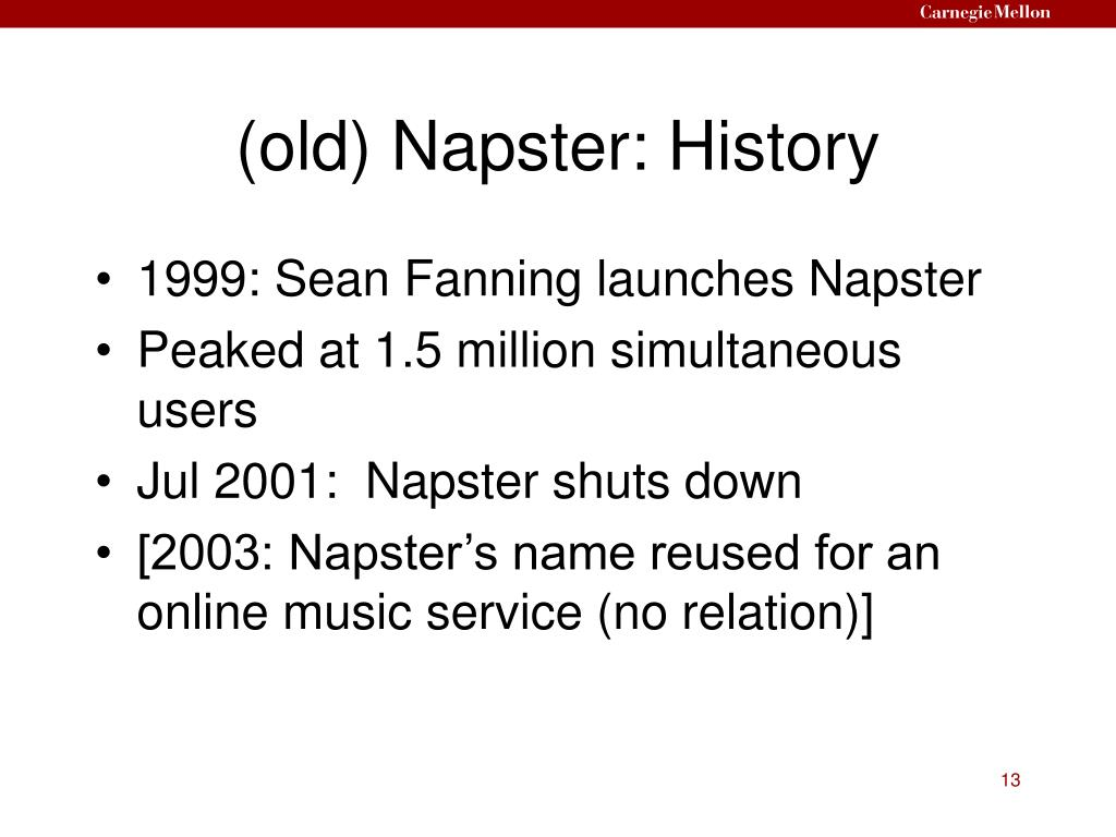 (old) Napster: History