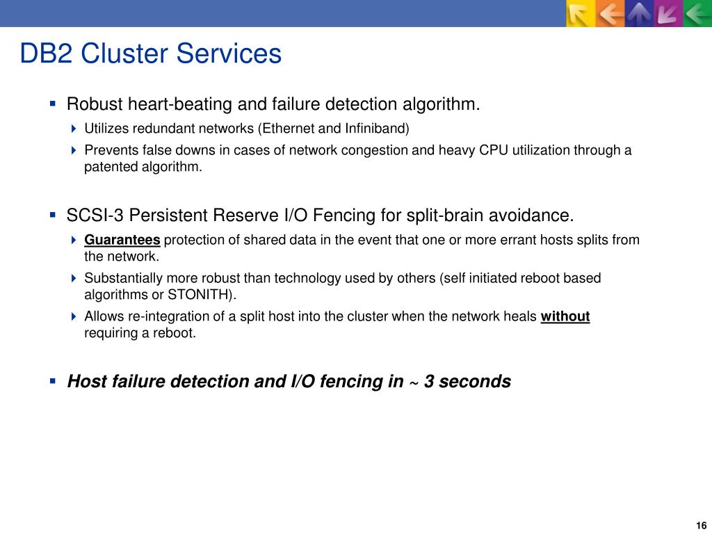 DB2 Cluster Services