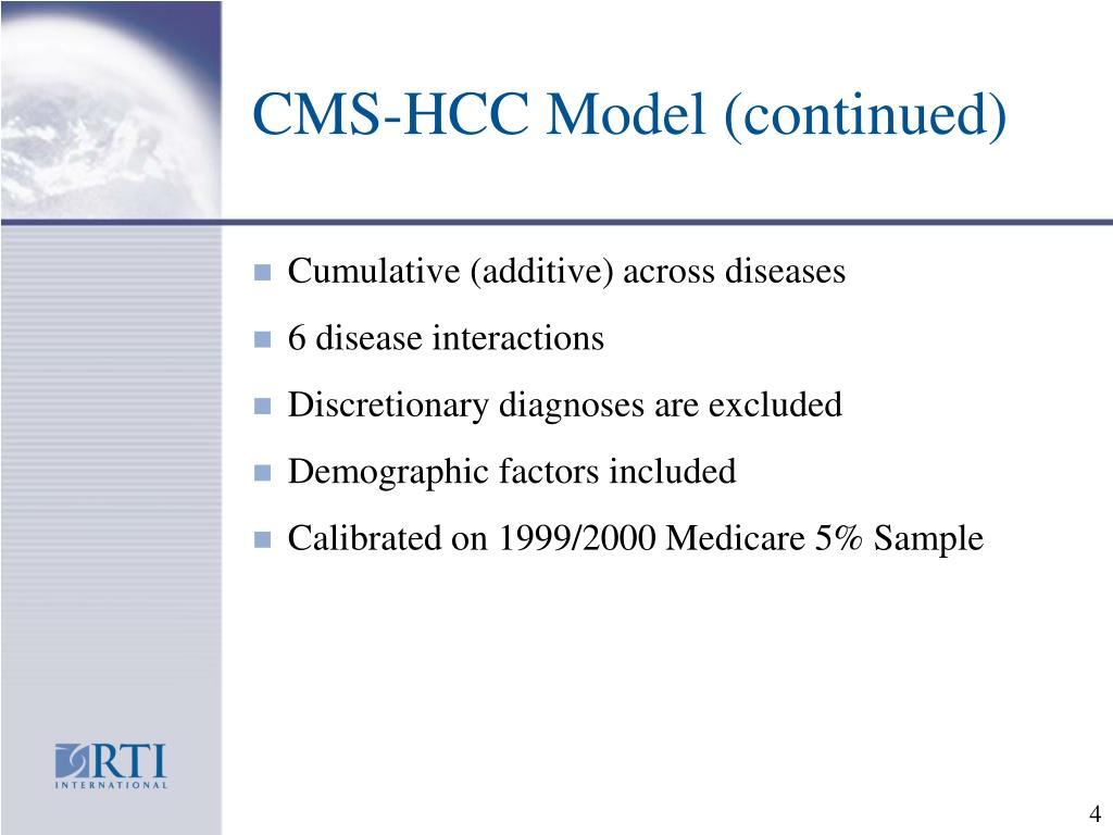 CMS-HCC Model (continued)
