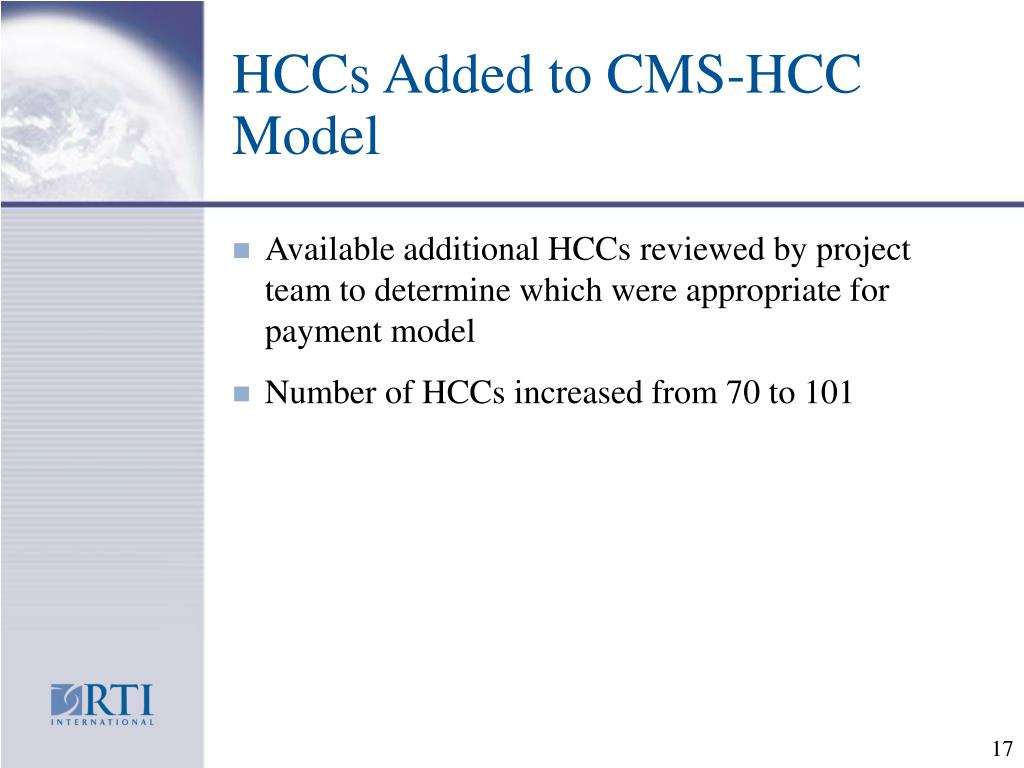 HCCs Added to CMS-HCC Model