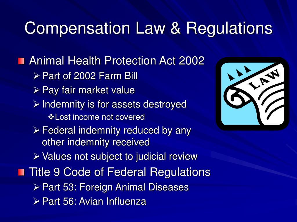 Compensation Law & Regulations