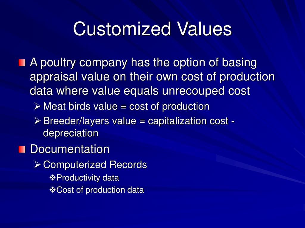Customized Values
