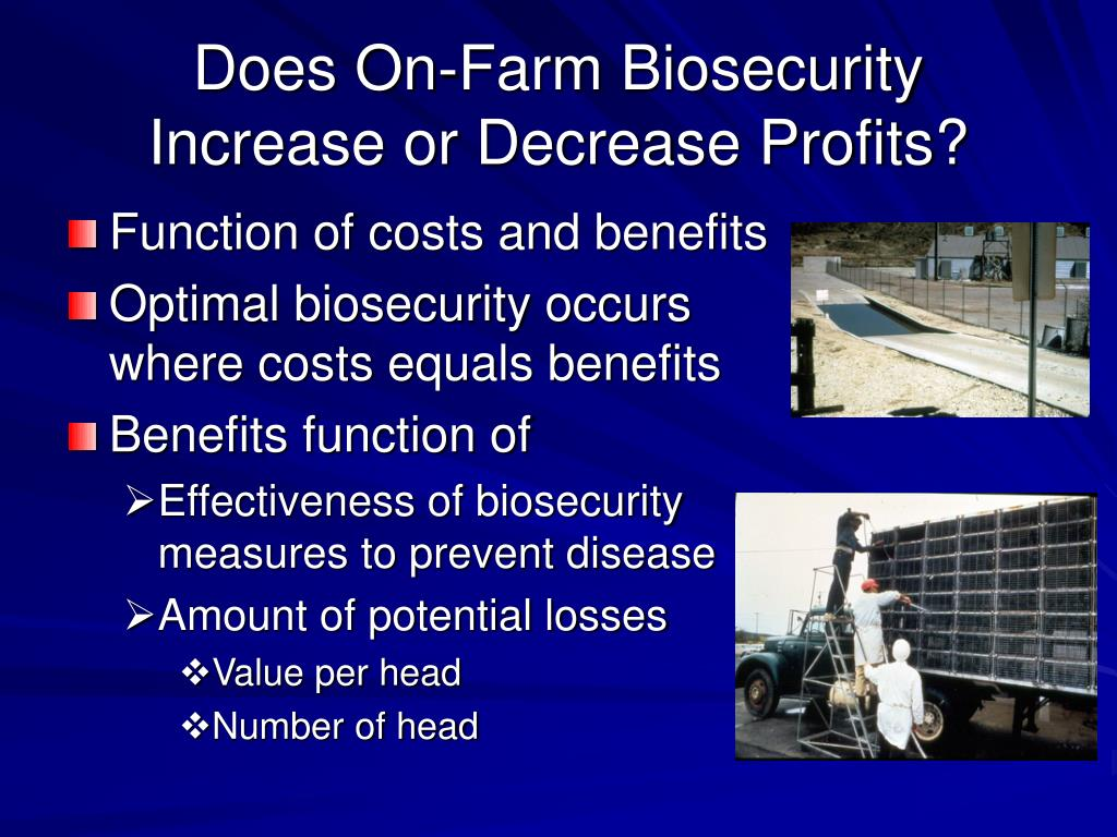 Does On-Farm Biosecurity Increase or Decrease Profits?