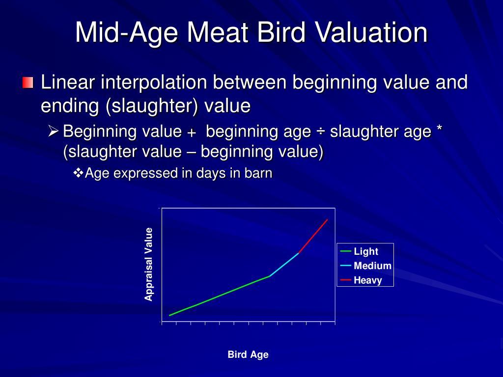 Mid-Age Meat Bird Valuation