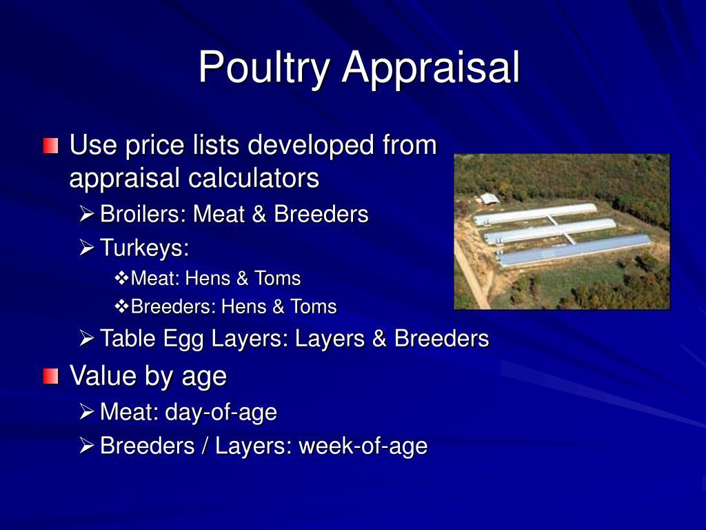 Poultry Appraisal