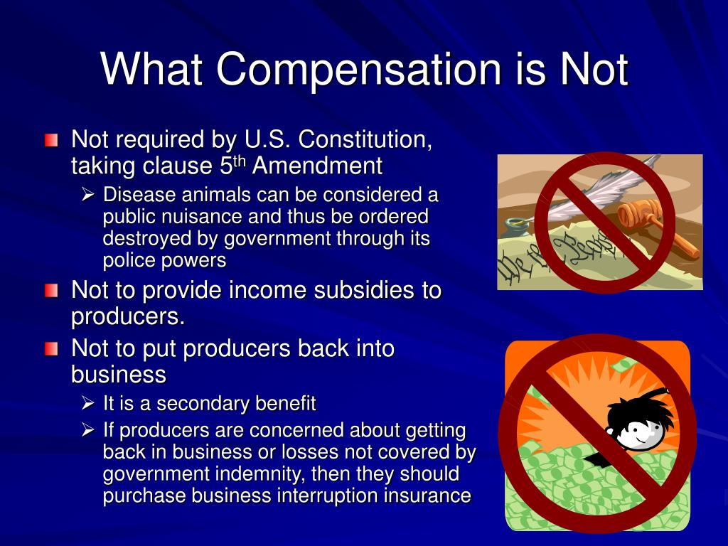 What Compensation is Not