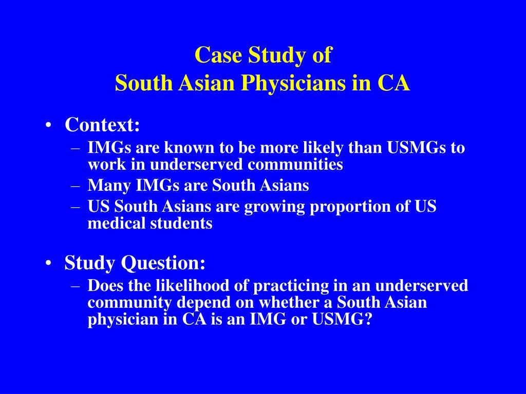 Case Study of