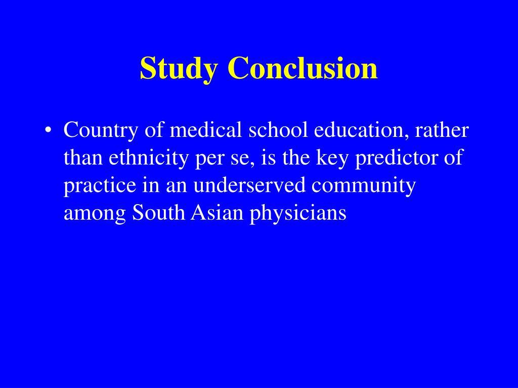 Study Conclusion