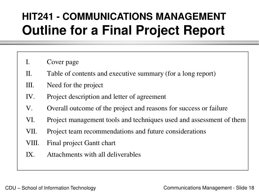 HIT241 - COMMUNICATIONS MANAGEMENT