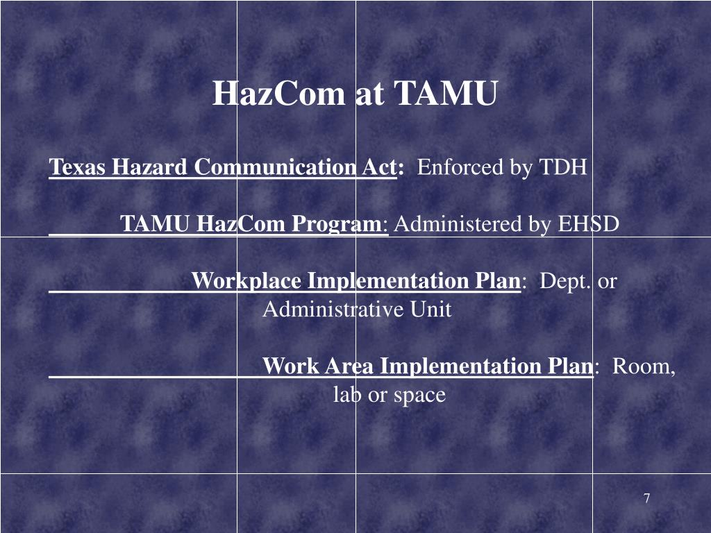 HazCom at TAMU