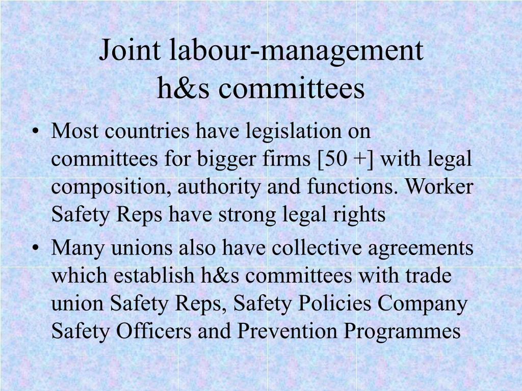 Joint labour-management